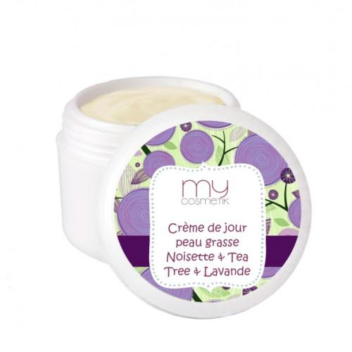 Crème de jour peau grasse noisette, tea tree & lavande