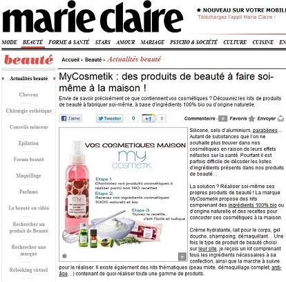 Mycosmetik sur Marie Claire