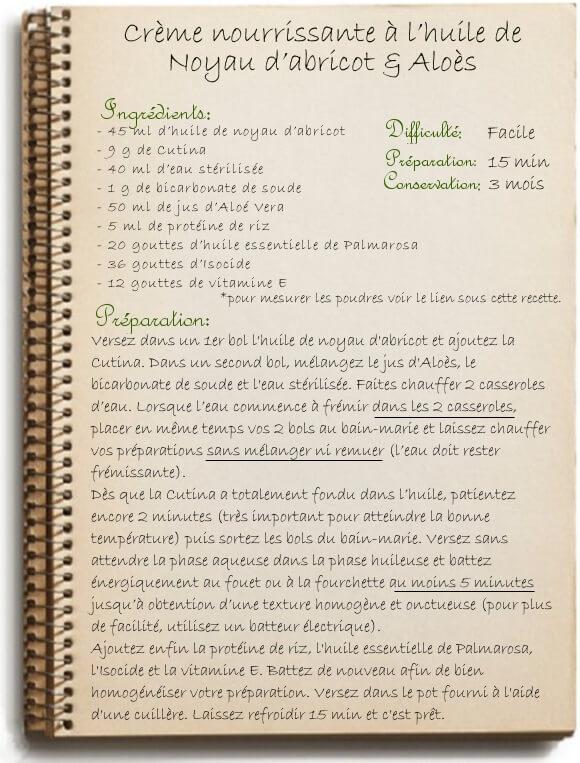 Recette de crème nourrissante maison pour le corps à l'aloe et abricot