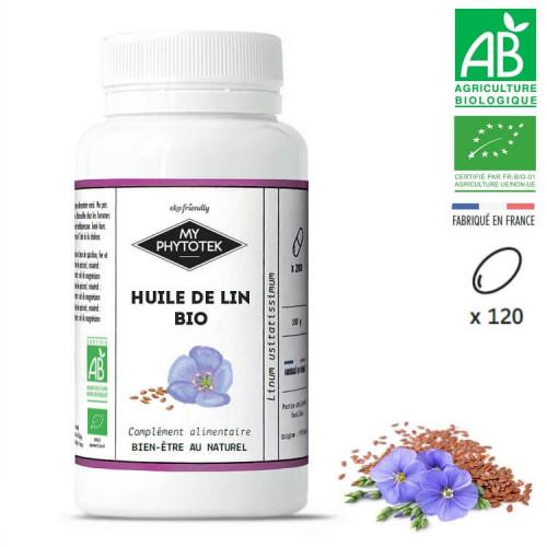 Capsules d'huile de lin BIO