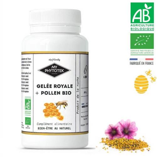 Gélules gelée royale + pollen BIO