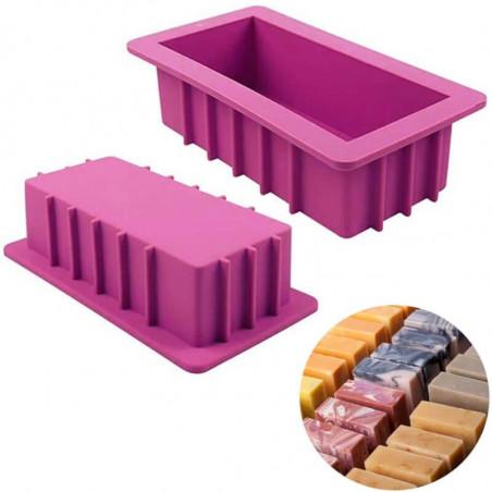 Grand moule en silicone pour savons à la coupe ou marbrés