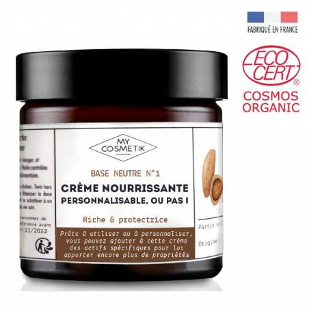 Base neutre N°1 - crème nourrissante personnalisable, ou pas !