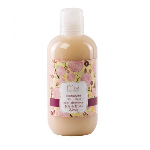 Cheveux abimés : Shampooing nourrissant huile essentielle Bois de Rose & Jojoba