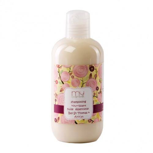 Cheveux fourchus : Shampooing nourrissant huile essentielle de  Bay St Thomas & Avocat