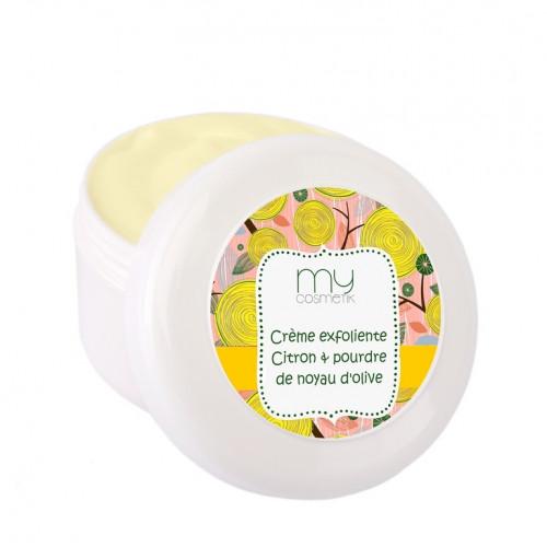 Crème exfoliante Citron & poudre de noyau d'Olive