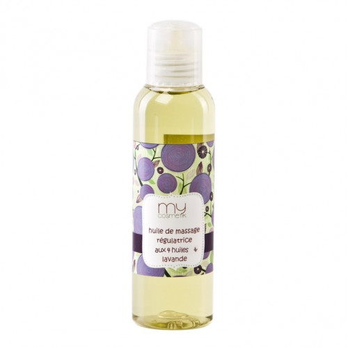 Huile de massage régulatrice au 4 huiles & Lavande