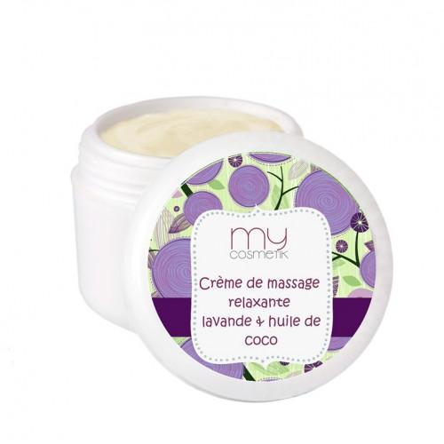 Crème de massage relaxante Lavande & huile de Coco