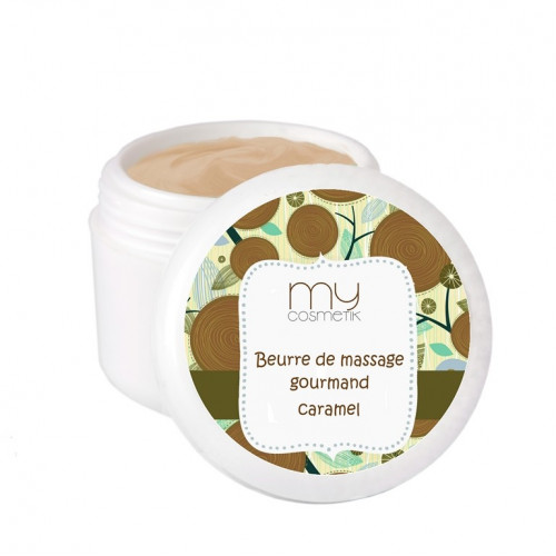 Beurre de massage gourmand au Caramel