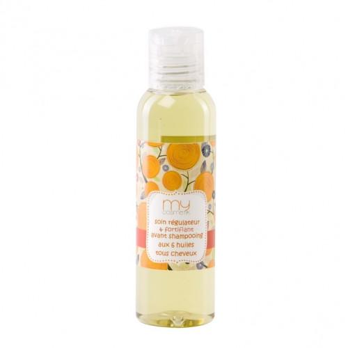 Soins régulateur & fortifiant avant shampooing aux 6 huiles tous cheveux
