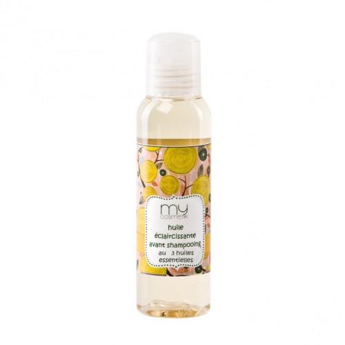 Huile éclaircissante avant shampooing aux 3 huiles essentielles