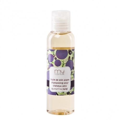 Huile de soins avant shampooing pour cheveux secs - Romarin & Ylang Ylang