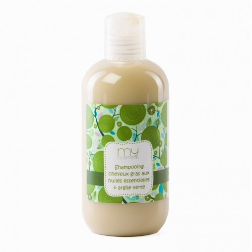 Shampooing cheveux gras aux huiles essentielles & argile verte