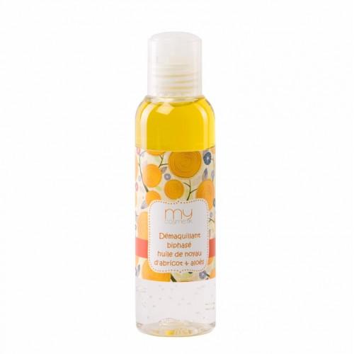 Démaquillant biphasé huile de noyau d'Abricot & Aloès