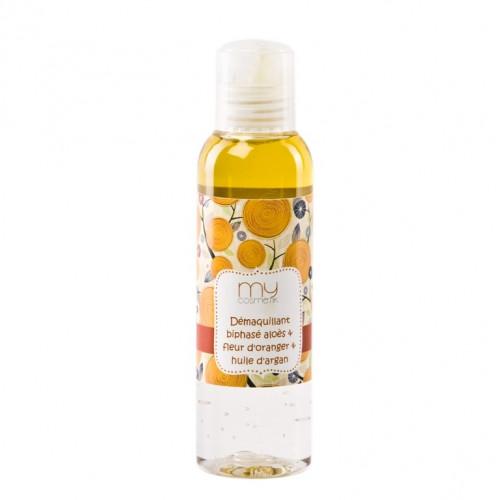Démaquillant biphasé Aloès, fleur d'Oranger & huile d'Argan
