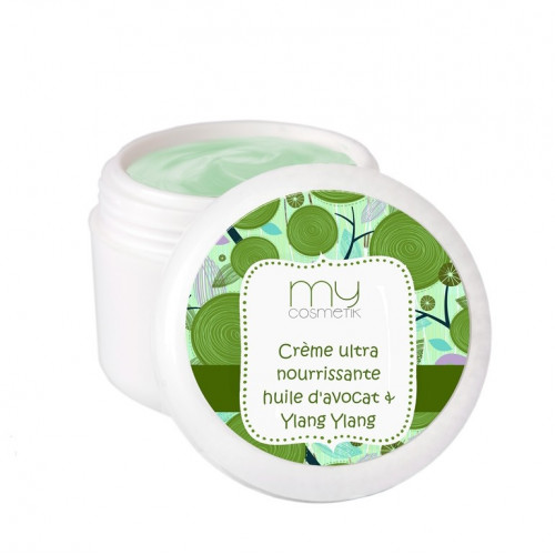 Crème ultra nourrissante huile d'Avocat & Ylang Ylang