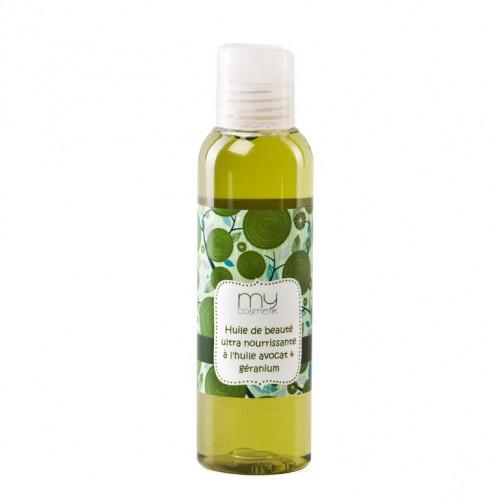 Huile de beauté ultra nourrissante à l'huile d'Avocat & Géranium