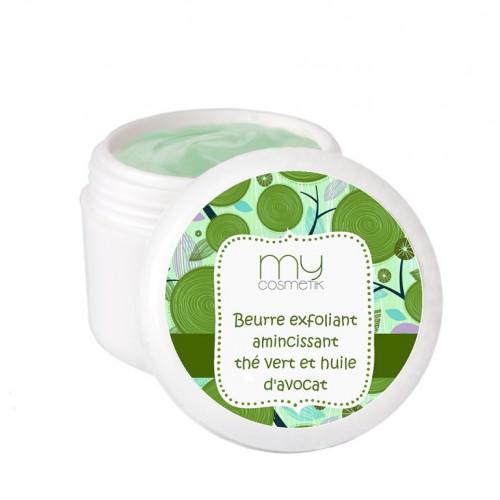Beurre exfoliant amincissant Thé vert & huile d'Avocat