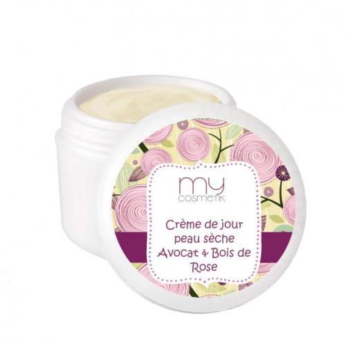 Crème de jour peau sèche avocat & bois de rose