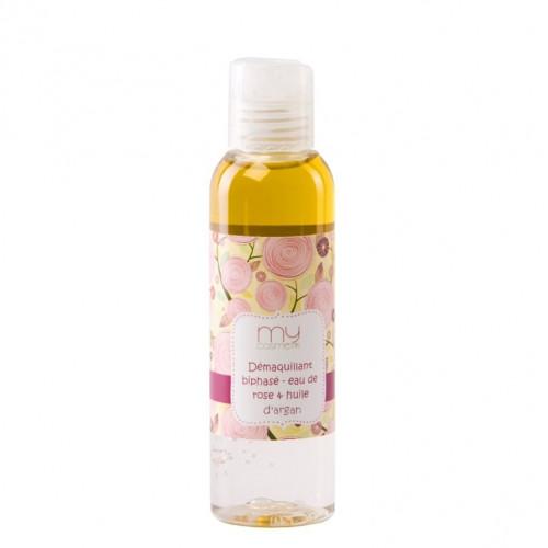 Démaquillant biphasé eau de Rose & huile d'Argan