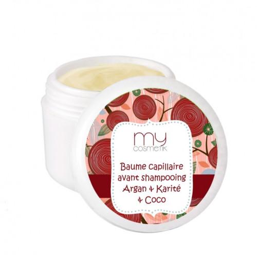 Baume capillaire avant shampooing  Argan, Karité, Coco