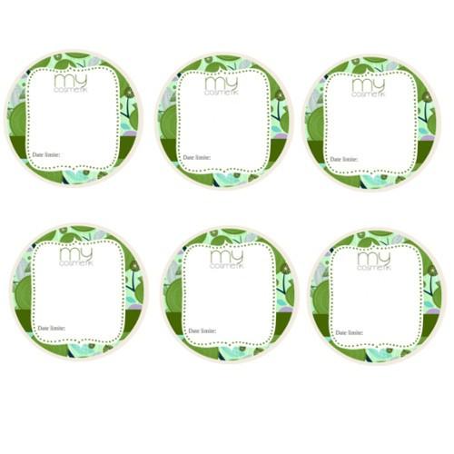 6 étiquettes vièrges - petites