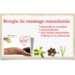 Bougie de massage macadamia