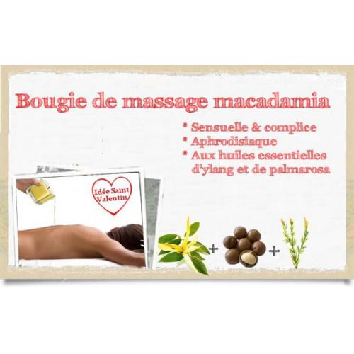 Bougie de massage macadamia