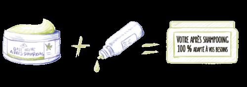 base neutre après shampooing personnalisable