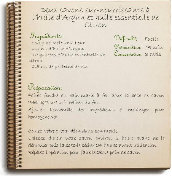Savons maison nourrissant à l'huile d'argan: recette naturelle