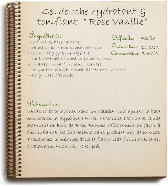 Fabriquer son gel douche maison tonifiant à la vanille