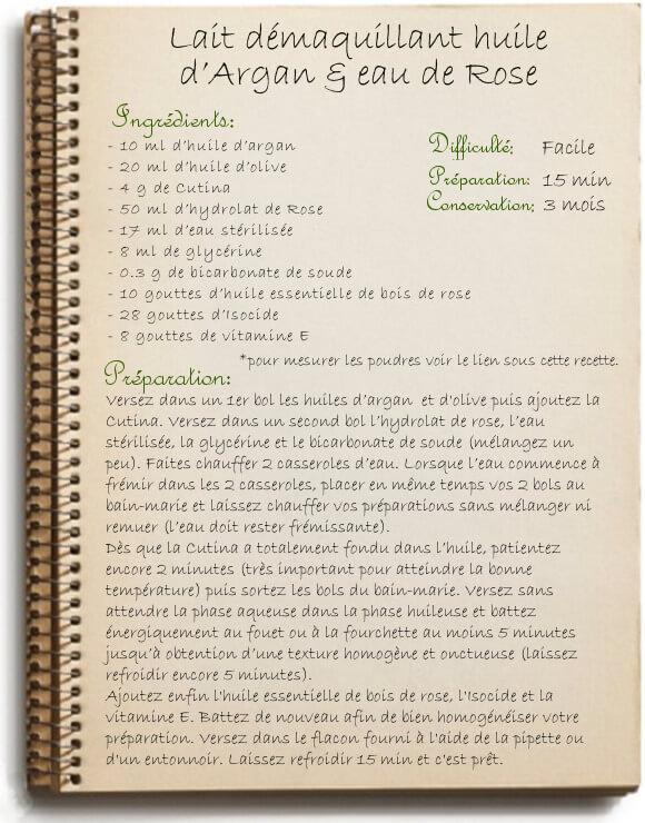 Lait démaquillant à l'huile d'argan: recette maison natuelle et bio