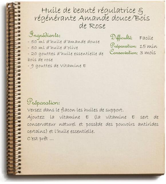 Recette maison: huile de beauté régulatrice pour le corps