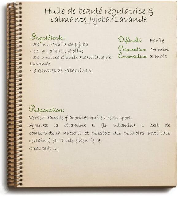 Recette d'huile calmante (peau) à l'huile essentielle de lavande