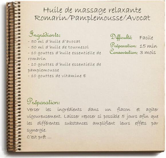 Faire son huile de massage relaxante: recette maison simple et bio
